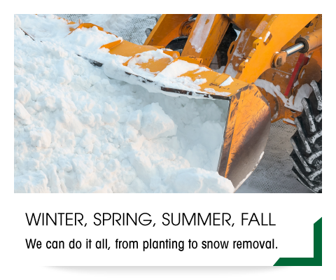 Winter, Spring, Summer, Fall | We can do it all, from planting to snow removal.